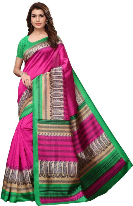 d6000063c Buy Vihana Printed Fashion Art Silk