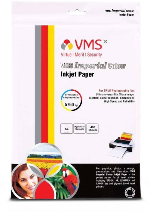 Flipkart com   VMS Imperial High Glossy 4R (4x6) 210 GSM RC