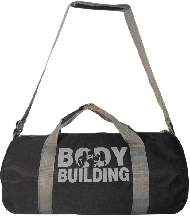 3fb676c947 5 O Clock Sports Body Building Gym Bag For Exercise - Black   Grey Color Gym  bag (Black
