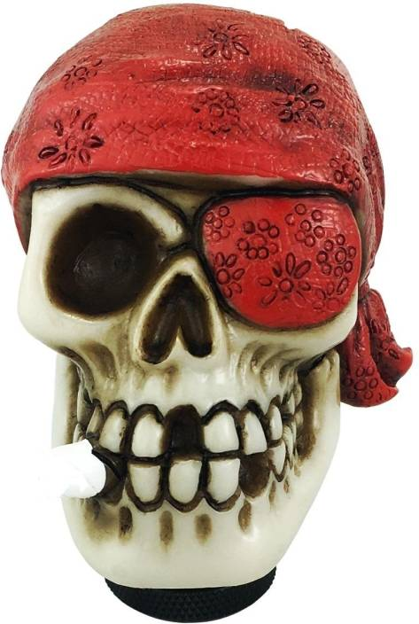 Trest Brand New Skull Gear Knob Shifter, One-Eyed Pirate Style Car