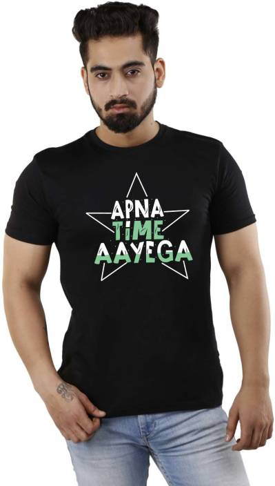 d867bf19 Feranoid Graphic Print Men Round or Crew Black T-Shirt - Buy Feranoid  Graphic Print Men Round or Crew Black T-Shirt Online at Best Prices in India  ...