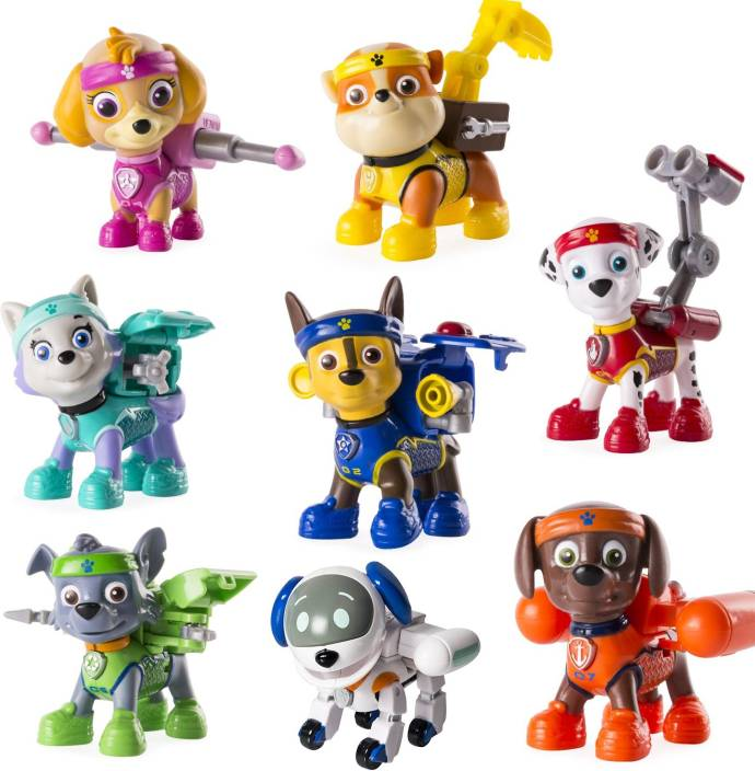 b2631f97b29 AncientKart Paw Patrol Action Figures Functioning Big High Quality Set of 8  (Multicolor)