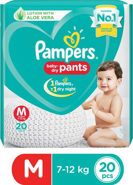 Pampers Baby-Dry Pants Diaper - M