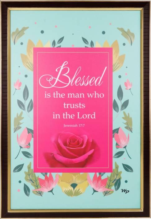 Word Gift Jesus Bible Verses Religious Frame Price in India - Buy