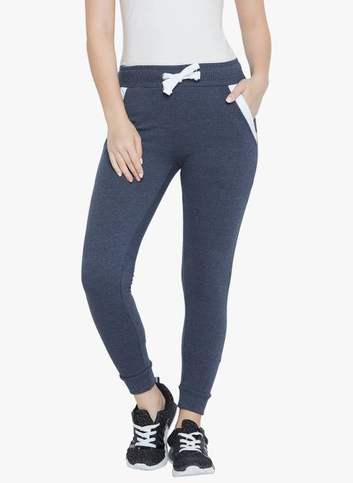The Dry State Solid Women's Blue Track Pants