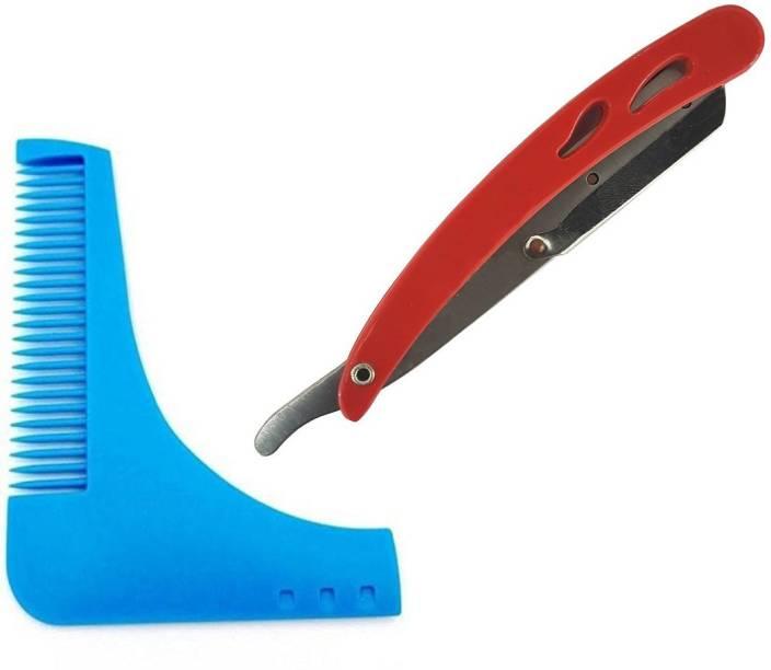 S R Enterprises beard comb 1pcs shaving plastic razor pack of 2pcs