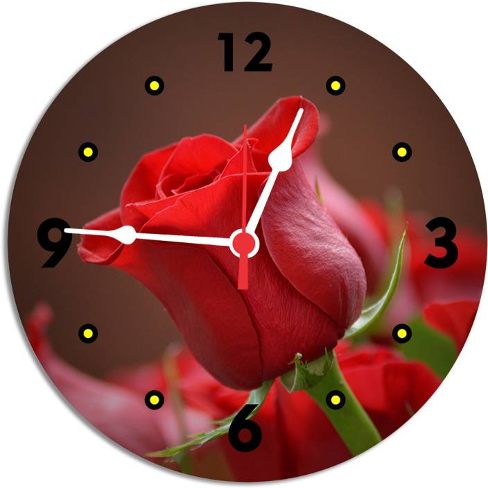 Kinaazog 23 Cm X 23 Cm Wall Clock Multicolor Without Gl