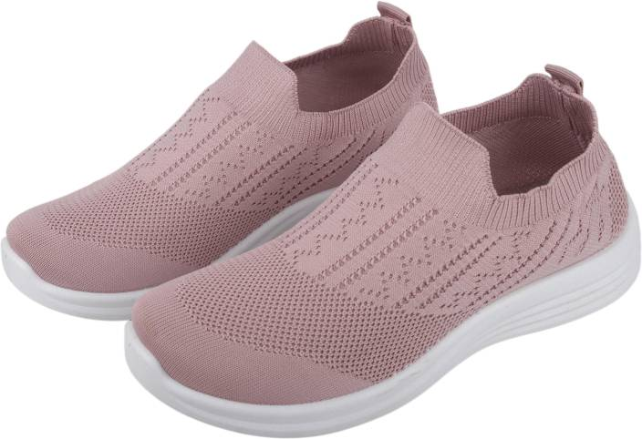 f56cc83c8 IRSOE Cassiey Women's Tread Walk comfortable and Lightweight Running Shoes  Peach Casuals For Women (Pink)