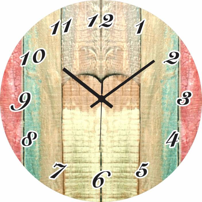 Raghav Creationsog 30 Cm X 30 Cm Wall Clock Multicolor Without Gl