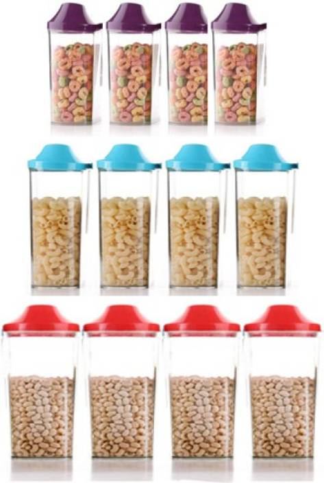 d01d0a8dd Dixa Storage Container for Kitchen 1700ml 4 pic + 1100 ml 4 pic + 750 ml 4  pic Cereal Dispenser Easy Flow Storage Jar Storage Box Lid Food Rice Pasta  ...