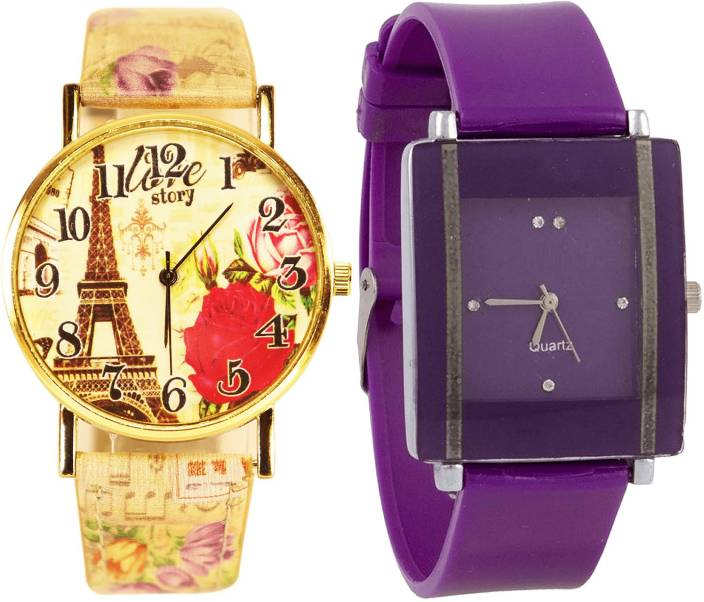 eafe9c6713 NIKOLA New Designer Paris Eiffel Tower Analogue Multicolor Color And ...