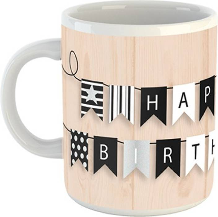 Earnam Happy Birthday Gift For Men 320Ml Multicolor Mug2513 Ceramic Mug 320 Ml