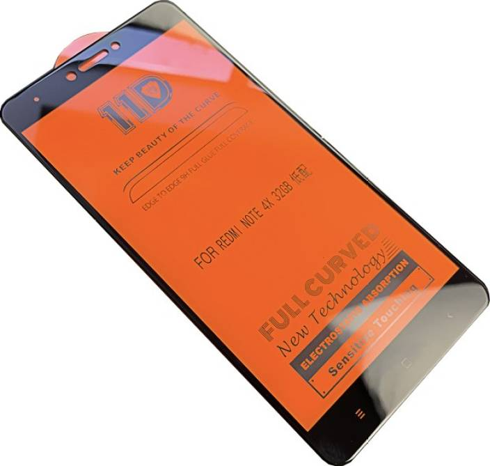 NDCOM Edge To Edge Tempered Glass for Redmi Note 4 11D