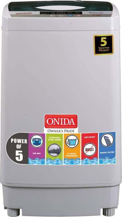 Onida 6.2 kg Fully Automatic Top Load Washing Machine Grey