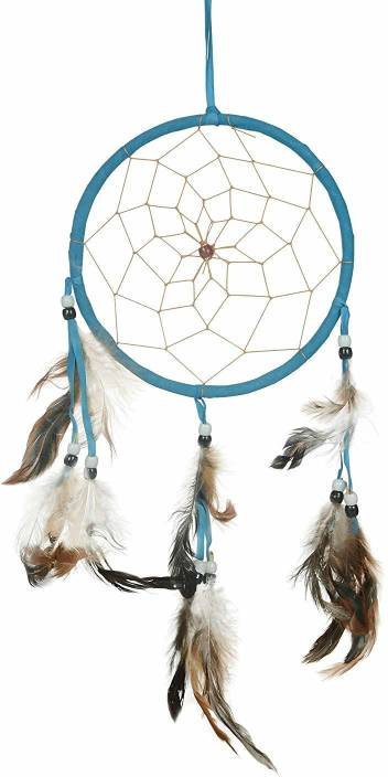 f4b55b45e9 Jamboree Dream Catchers Blue Handmade Feather Native American Dreamcatcher  Circular Net for Car Kids Bed Room
