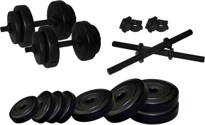 54290f1b788 Stag FITNESS ADJUSTABLE PVC STANDARD DUMBELL SET 20 KG Adjustable Dumbbell