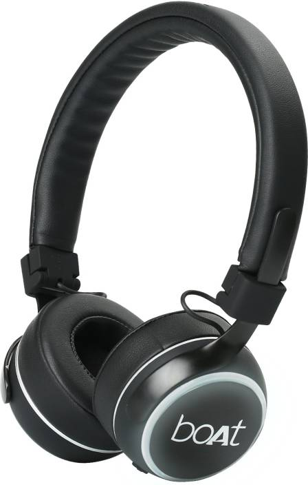 5ae83834be8 boAt RockerZ 640 Bluetooth Headset with Mic (Matte Black, Over the Ear)
