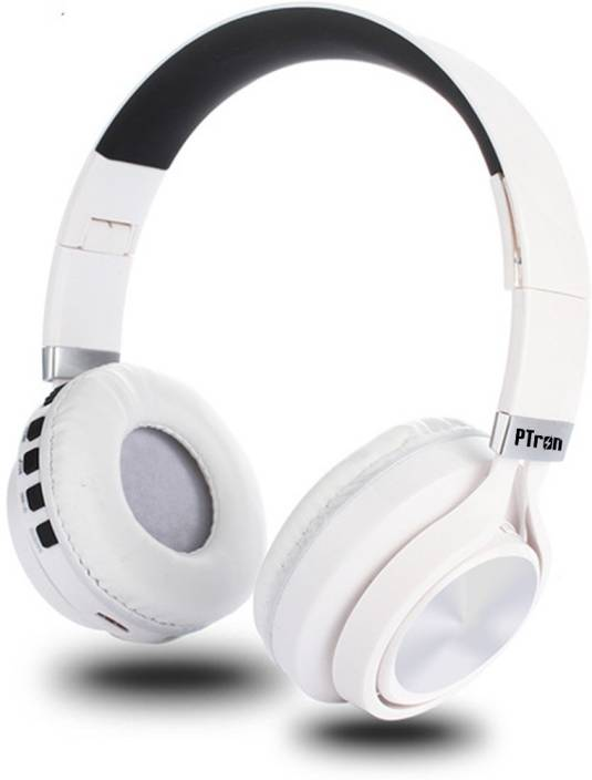ff71bfed296 PTron Kicks 479 Wireless Bluetooth Headset with Mic (White, On the Ear)