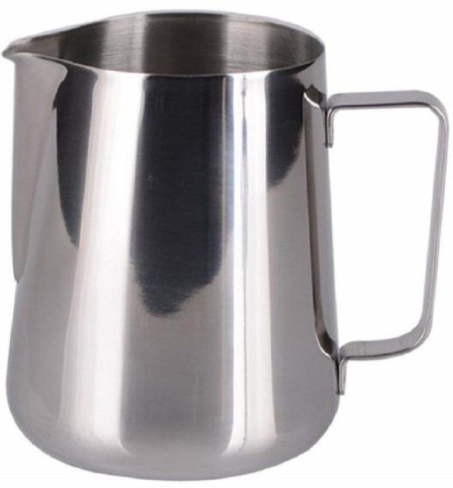 Stainless Steel Coffee Pitcher Craft Latte Milk Frothing Jug with Lid 1L