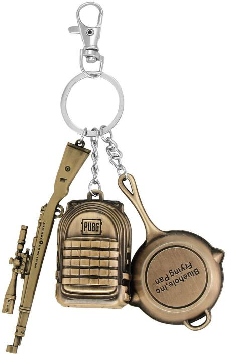 NMD Pubg Keychain Set Level 3 Backpack-Frying Pan-Gun 3D Pendant Key Chain  Playerunknown's Battlegrounds Key Chain