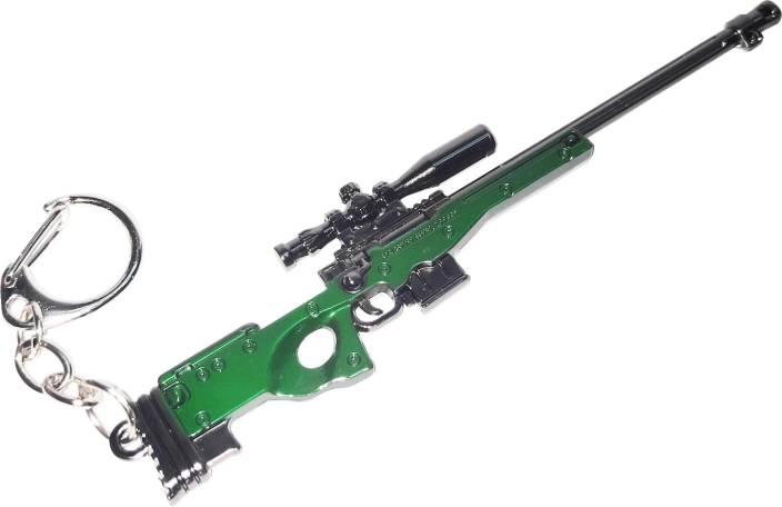 One Wish PUBG Military Skin AWM Sniper Weapon Gun Key Chain
