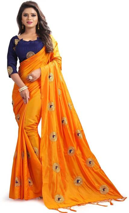valeria Embroidered Fashion Silk Saree