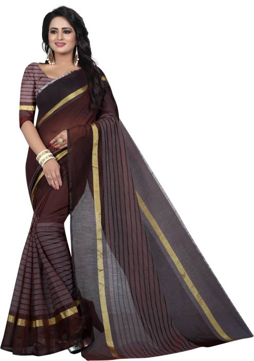 Tishnagi Designer Self Design, Striped, Woven, Solid Fashion Art Silk, Cotton, Banarasi Silk Saree