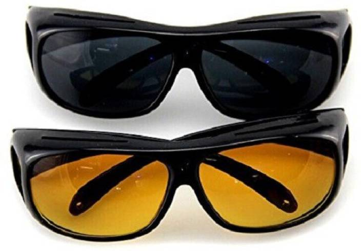f1b7e452d0a YS Traders Day   Night Hd Vision Goggles Anti-Glare Polarized Sunglasses UV  Protection Motorcycle Goggles (Yellow