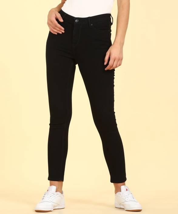517bf931c50 Lee Skinny Women Black Jeans - Buy Lee Skinny Women Black Jeans Online at Best  Prices in India