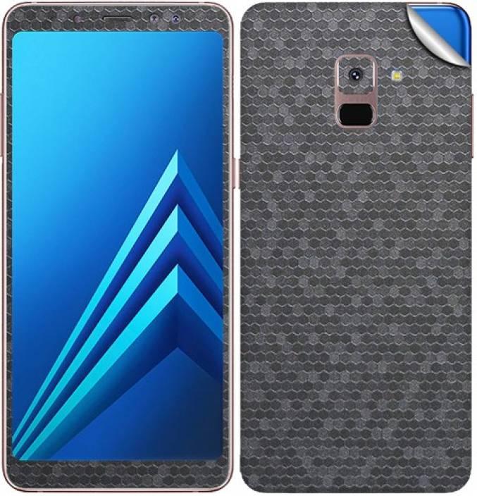 b6f88bea7 GADGETS WRAP GW-88564 Silver Honeycomb Skin for Samsung Galaxy A8 Plus  Mobile Skin (Silver)