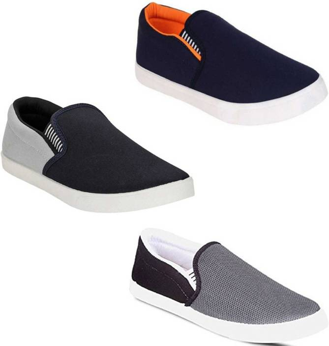 1a0f5dd2fcc Palmboot Combo Pack of 3 Canvas Shoes For Men - Buy Palmboot Combo ...