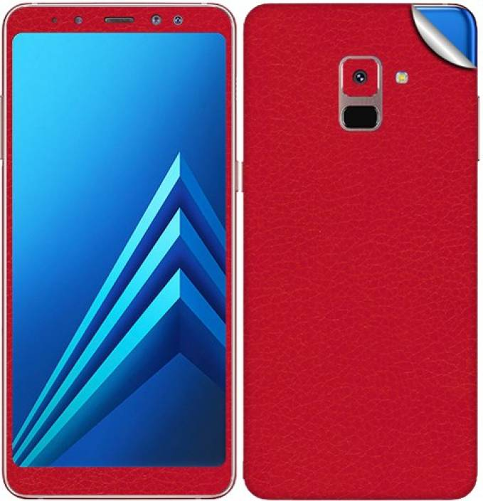 b065d76c4 GADGETS WRAP GW-88537 Leather Red Skin for Samsung Galaxy A8 Plus Mobile  Skin (Red)