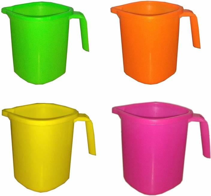 Durja PLASTIC MUG 1 LITER 4 PIECE Plastic Mug Price in India