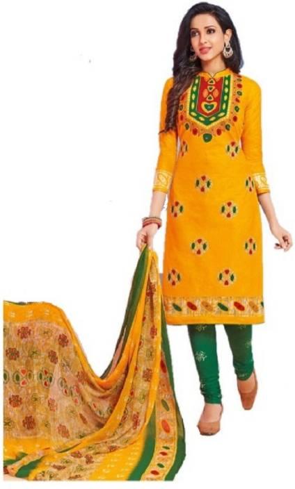 520d3e1c11 D.S.FABRICS Cotton Printed Salwar Suit Dupatta Material (Un-stitched)