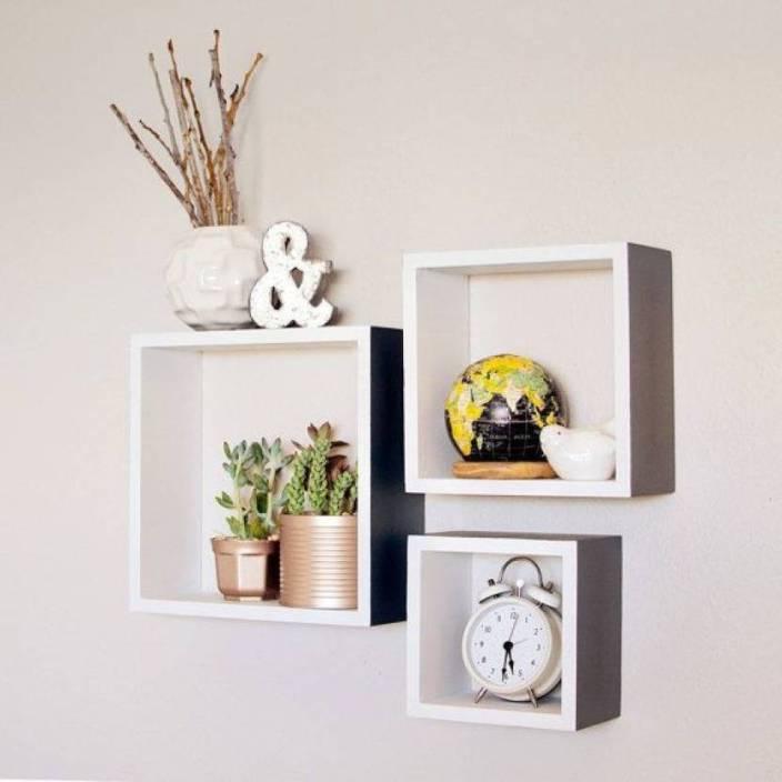 Super Maaz Handicrafts Maaz Wall Shelf Set Of 3 Square Shelves Best Image Libraries Barepthycampuscom