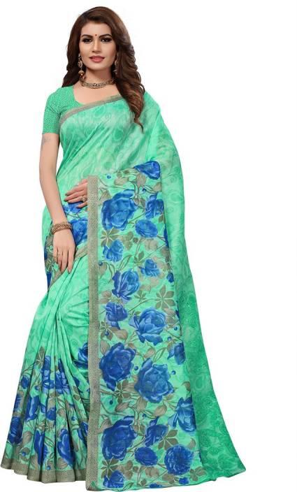 Indi Wardrobe Printed Mekhela Chador Khadi Saree
