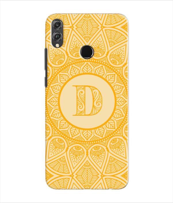 Etechnic Back Cover for Honor 8X - Alphabet D - Etechnic