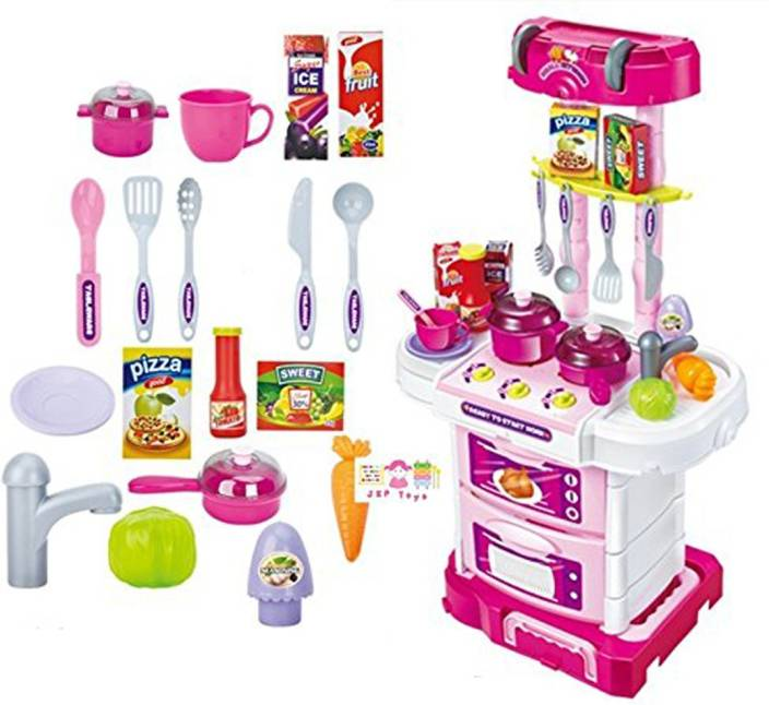 73d1db25478 Hi-Widze Techhark Little Chef Kids Kitchen Play Set with Light   Sound  Cooking Kitchen