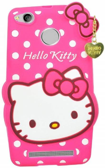 release date b94cc c486b Aarnik Back Cover for 3D Cute Cartoon Hello Kitty Soft Silicone Back ...