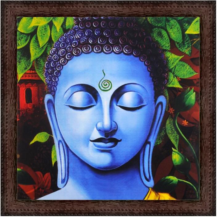 COLOURFUL RAINBOW BUDDHA POP ART ETHNIC BOX CANVAS PRINT WALL ART PICTURE