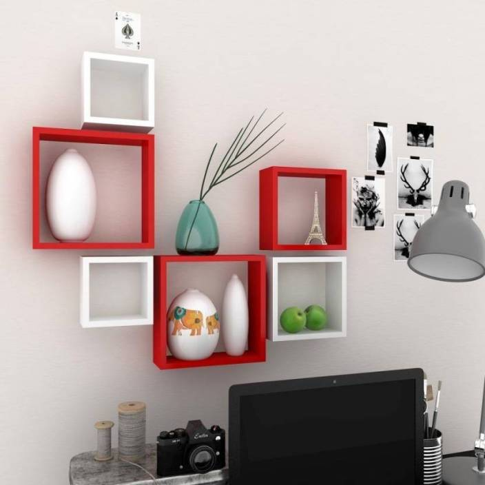 Remarkable Maaz Handicrafts Square Shape Set Of 6 Floating Wall Shelves Best Image Libraries Barepthycampuscom
