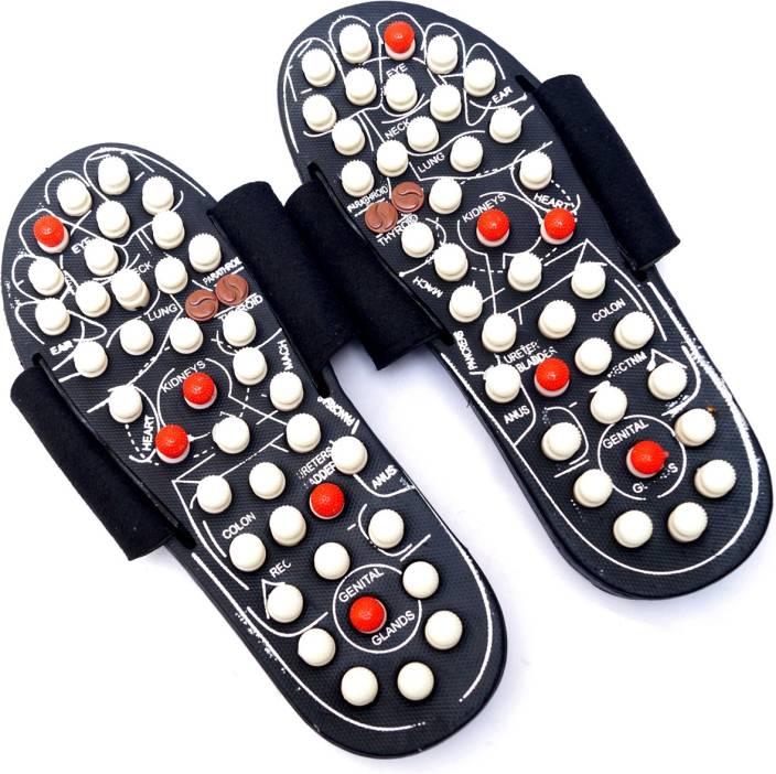 06f8e5d69ca0 Healthllave Acupressure Yoga Slippers Acupressure Yoga Slippers Massager  (Black and White)