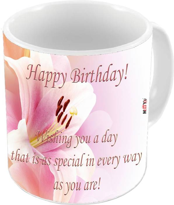 MEYOU Gift For Brother Sister Father Mother Friends On Birthday Gifts IZ19DTBirthdayMU 84 Ceramic Mug 325 Ml