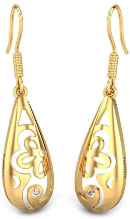 7fbc6e2e8 Candere by Kalyan Jewellers Cubic Zirconia Collection Yellow Gold 22kt  Cubic Zirconia Drop Earring Price in India - Buy Candere by Kalyan Jewellers  Cubic ...