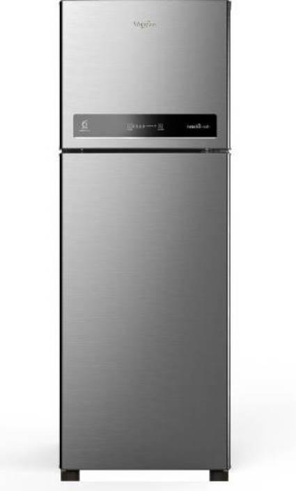whirlpool 265 l frost free double door 4 star refrigerator (magnum steel,  intellifresh 278 elt 4s)