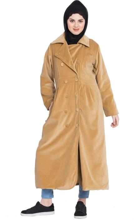 7d94d6bc068ae Nazneen NHF202 Velvet Winter double breast Coat(XXL) Cotton Self ...