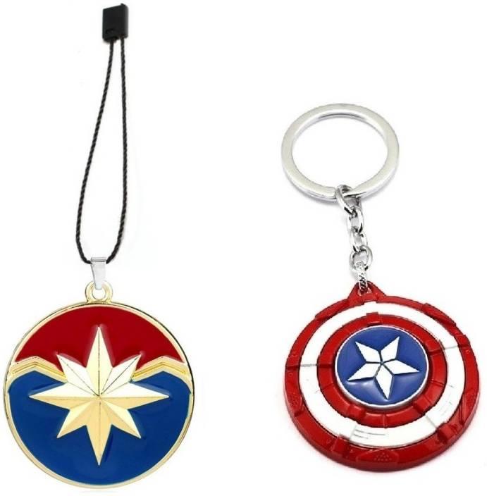 Lady Hawk Avengers 2 Pcs Set Captain Marvel Gold Endgame Baggage