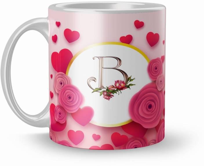 26e6c57bb0 KTCJPR Letter B Alphabet Gift For Special Love 320Ml Multicolor (Mug2311) Ceramic  Mug (330 ml)