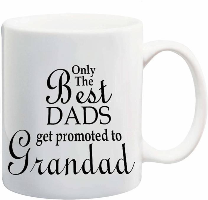 6ef477f2bb1 RADANYA Only The Best Dad Get Promoted to Grandad Ceramic Mug Price ...