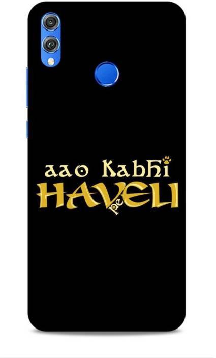 Hemking Back Cover for Honor 8X (JSN-AL00) Printed Aao Kabhi